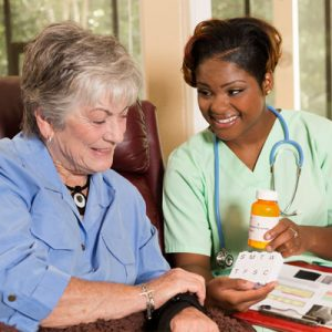 healthcare nurse and client