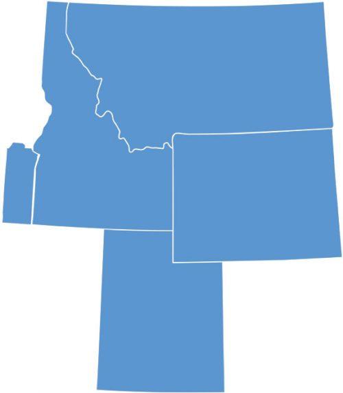 4 states MT WY UT ID